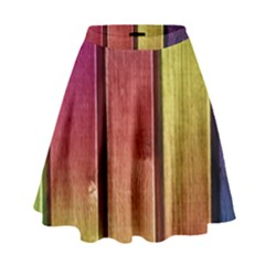Colourful Wood Painting High Waist Skirt