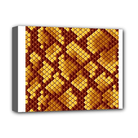 Snake Skin Pattern Vector Deluxe Canvas 16  x 12