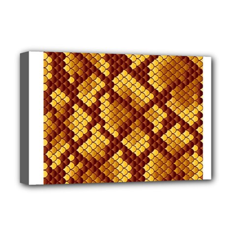 Snake Skin Pattern Vector Deluxe Canvas 18  x 12