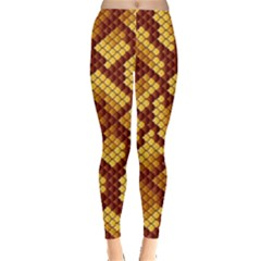 Snake Skin Pattern Vector Leggings