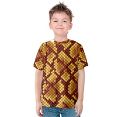 Snake Skin Pattern Vector Kids  Cotton Tee