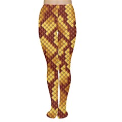 Snake Skin Pattern Vector Women s Tights