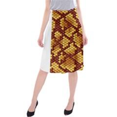 Snake Skin Pattern Vector Midi Beach Skirt
