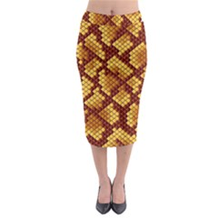 Snake Skin Pattern Vector Midi Pencil Skirt
