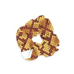 Snake Skin Pattern Vector Velvet Scrunchie