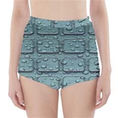 Water Drop High-Waisted Bikini Bottoms