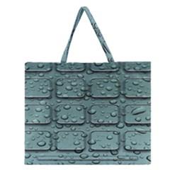 Water Drop Zipper Large Tote Bag