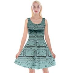 Water Drop Reversible Velvet Sleeveless Dress