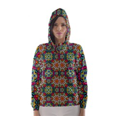 Jewel Tiles Kaleidoscope Hooded Wind Breaker (Women)