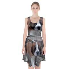 St Bernard Pup Racerback Midi Dress