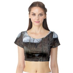 Abondoned House Short Sleeve Crop Top (Tight Fit)