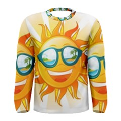 Cartoon Sun Men s Long Sleeve Tee