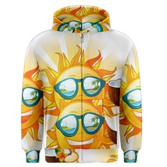 Cartoon Sun Men s Zipper Hoodie