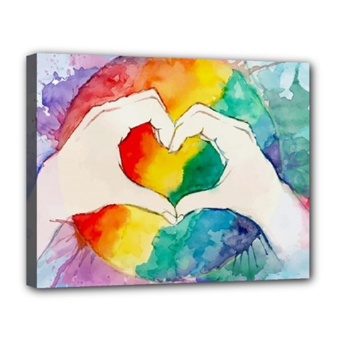 Pride Love Canvas 14  x 11