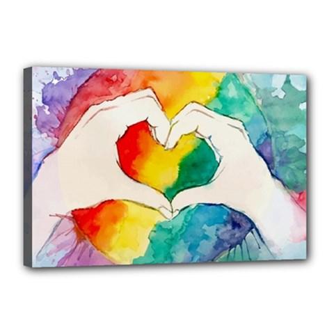 Pride Love Canvas 18  x 12