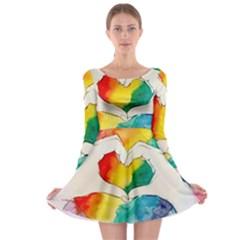Pride Love Long Sleeve Skater Dress