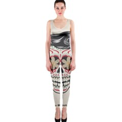 Woman Sugar Skull OnePiece Catsuit
