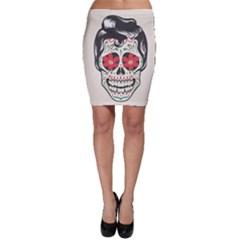 Man Sugar Skull Bodycon Skirt