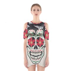 Man Sugar Skull Shoulder Cutout One Piece