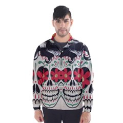 Man Sugar Skull Wind Breaker (Men)