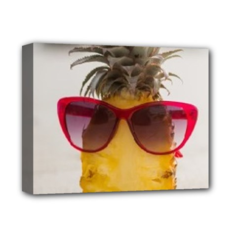 Pineapple With Sunglasses Deluxe Canvas 14  x 11