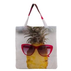 Pineapple With Sunglasses Grocery Tote Bag