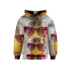 Pineapple With Sunglasses Kids  Pullover Hoodie