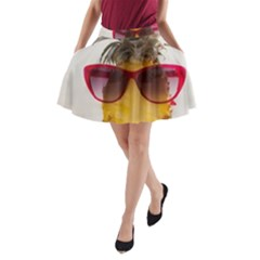 Pineapple With Sunglasses A-Line Pocket Skirt