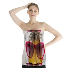 Pineapple With Sunglasses Strapless Top