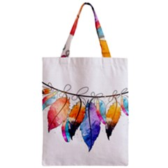 Watercolor Feathers Classic Tote Bag