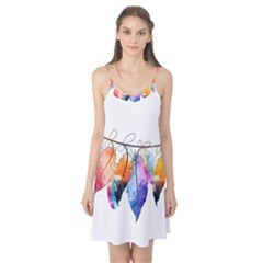 Watercolor Feathers Camis Nightgown