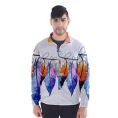 Watercolor Feathers Wind Breaker (Men)
