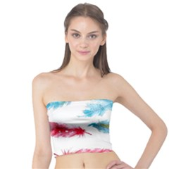 Watercolor Feather Background Tube Top