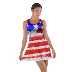 Watercolor Flag Cotton Racerback Dress