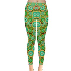 Flowers In Mind In Happy Soft Summer Time Leggings