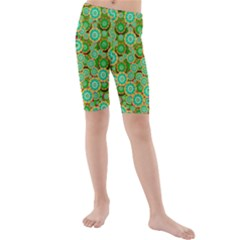 Flowers In Mind In Happy Soft Summer Time Kids  Mid Length Swim Shorts