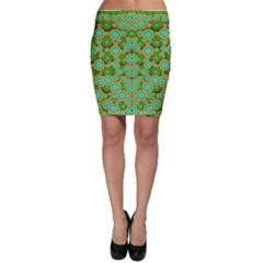Flowers In Mind In Happy Soft Summer Time Bodycon Skirt