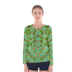 Flowers In Mind In Happy Soft Summer Time Women s Long Sleeve Tee