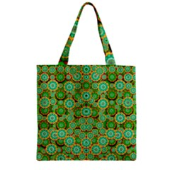 Flowers In Mind In Happy Soft Summer Time Zipper Grocery Tote Bag