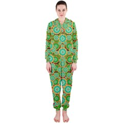 Flowers In Mind In Happy Soft Summer Time Hooded Jumpsuit (Ladies)