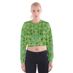 Flowers In Mind In Happy Soft Summer Time Cropped Sweatshirt