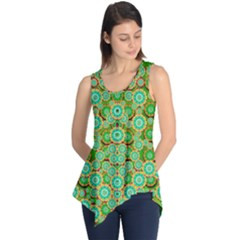 Flowers In Mind In Happy Soft Summer Time Sleeveless Tunic