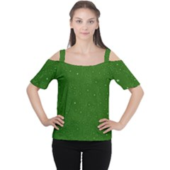 Awesome Allover Stars 01d Women s Cutout Shoulder Tee