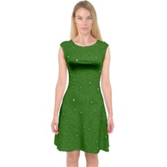 Awesome Allover Stars 01d Capsleeve Midi Dress