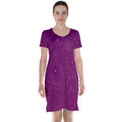 Awesome Allover Stars 01e Short Sleeve Nightdress