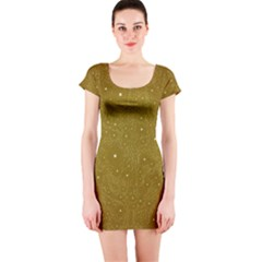 Awesome Allover Stars 01c Short Sleeve Bodycon Dress