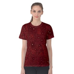 Awesome Allover Stars 01a Women s Cotton Tee