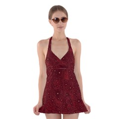 Awesome Allover Stars 01a Halter Swimsuit Dress