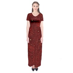 Awesome Allover Stars 01a Short Sleeve Maxi Dress