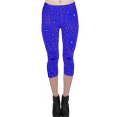 Awesome Allover Stars 01f Capri Leggings